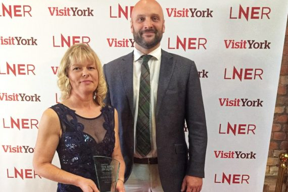 James and Fiona with trophy Visit York 2019